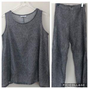 bryn walker Grey Tank and Pants Set| M |S